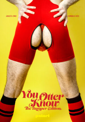 You Otter Know The Omnibus cover shows Harry in a red wrestling singlet with his bum out